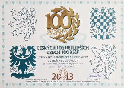 VŠTE uspěla v soutěži Českých 100 nejlepších