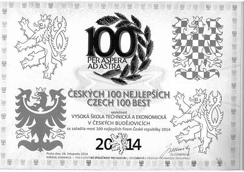 VŠTE poprvé v žebříčku Českých 100 nejlepších