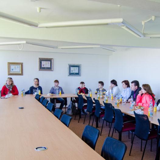 Návštěva ze střední školy z Čeljabinsku