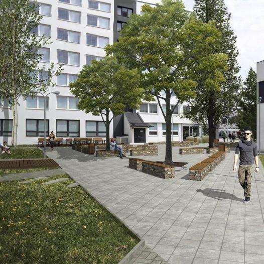V kampusu VŠTE vzniká odpočinková zóna. Dokončena bude ještě letos.