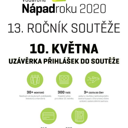 Letošní ročník soutěže Vodafone Nápad roku startuje. Výhry a  investice už čekají. Stačí udělat rozhodující krok.