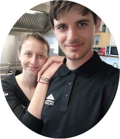 Alexandra Herasymjuk a Ondřej Skála